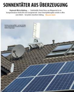 Ein Mikro-Windrad ergänzt eine Solaranlage auf einem Hausdach